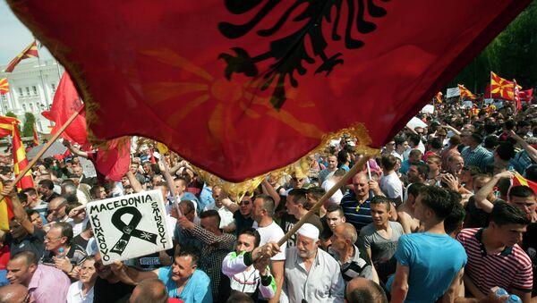 Skoplje, protest - Sputnik Srbija