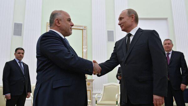 Владимир Путин и ирачки премијер Хајдер ал-Абади - Sputnik Србија