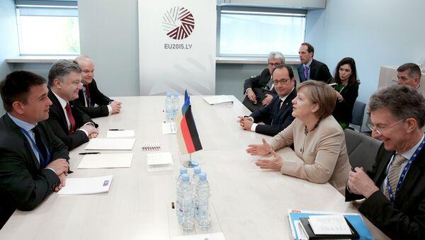 Ukraine's President Poroshenko visits Latvia - Sputnik Srbija