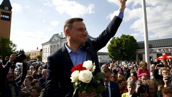 Adžej Duda, kandidat opozicione konzervativne partije Pravo i Pravde - Sputnik Srbija