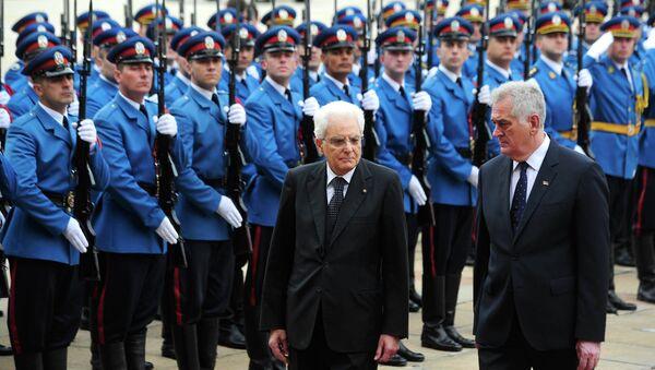 Tomislav Nikolić i Serđo Matarela - Sputnik Srbija