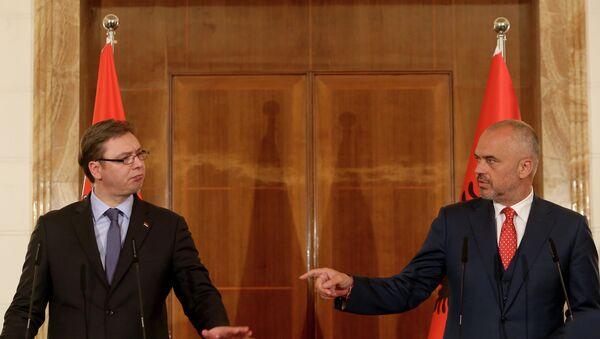 Aleksandar Vučić i Edi Rama na konferenciji za novinare - Sputnik Srbija