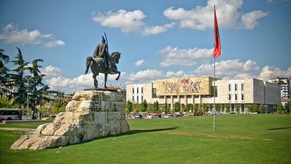 Skenderbegov trg u Tirani, Albanija - Sputnik Srbija