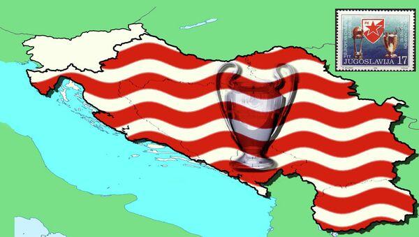 Границе СФРЈ у бојама Црвене звезде, без Словеније - Sputnik Србија