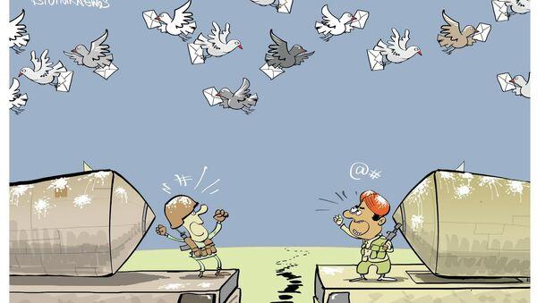 karikatura golub špijun - Sputnik Srbija