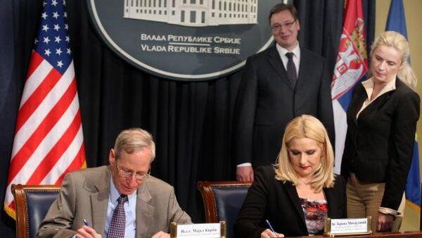 Потписивање споразума о ваздушном саобраћају између САД и Србије - Sputnik Србија