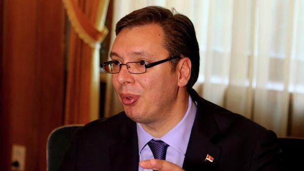 Премијер Александар Вучић - Sputnik Србија