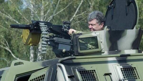 Petro Porošenko u poseti Nacionalnoj gardi, blizu Kijeva - Sputnik Srbija