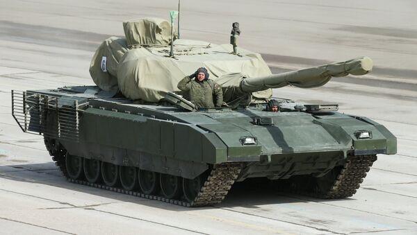 Армата борбени тенк на припремама за Дан победе - Sputnik Србија