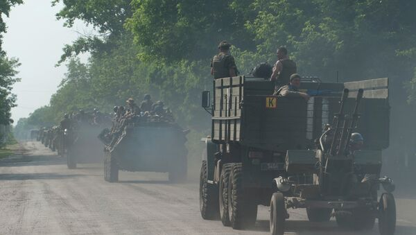 Konvoj ukrajinske vojske u Marinki - Sputnik Srbija