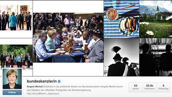 Инстаграм профил Ангеле Меркел - Sputnik Србија