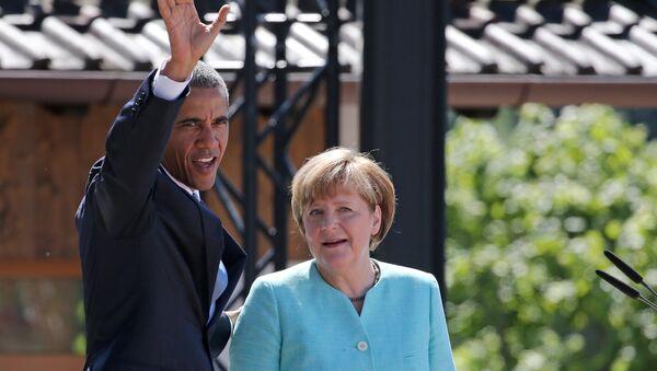 Барак Обама и Ангела Меркел на самиту Г7 - Sputnik Србија