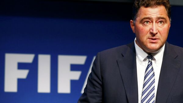 Domenico Scala, Chairman of the FIFA's Audit and Compliance Committee addresses a news conference at the FIFA headquarters in Zurich, Switzerland, June 2, 2015 - Sputnik Србија