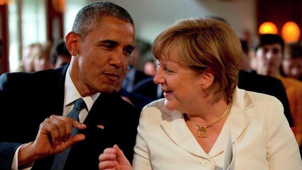 Barak Obama i Angela Merkel na Samitu G7 u Nemačkoj - Sputnik Srbija