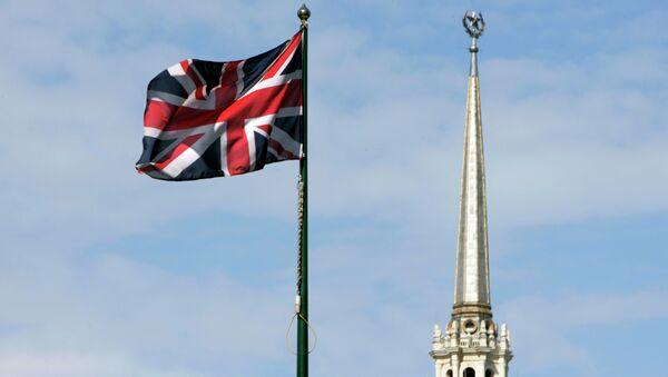 Zastava Velike Britanije na ambasadi u Moskvi - Sputnik Srbija