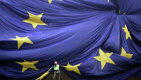 Velika zastava EU u Barseloni - Sputnik Srbija