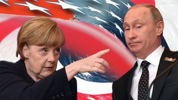 Angela Merkel i Vladimir Putin - Sputnik Srbija
