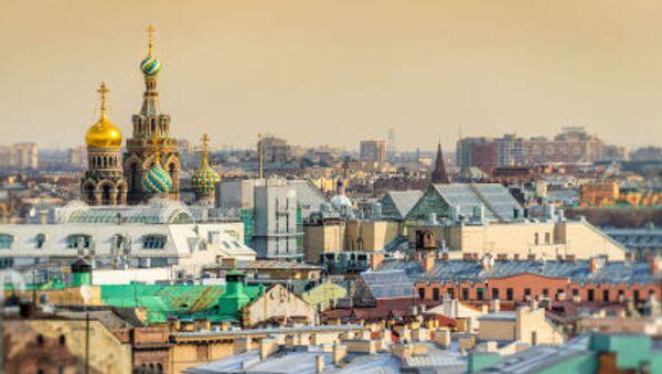 Вид на Исаакиевский собор и крыши Санк-Петербурга - Sputnik Србија