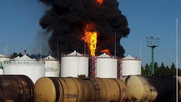 BRSM-Nafta Пожар у складишту нафте илустрација - Sputnik Србија
