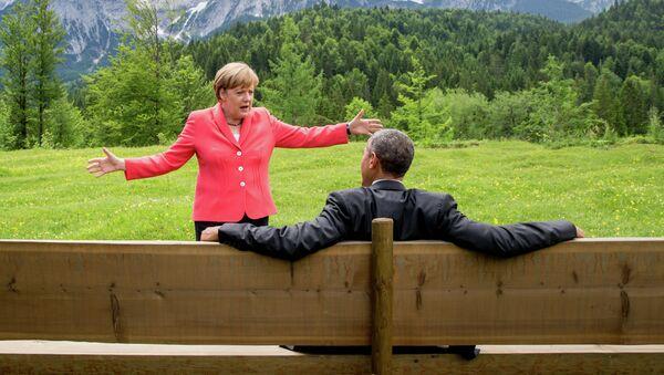 Barak Obama i Angela Merkel - Sputnik Srbija