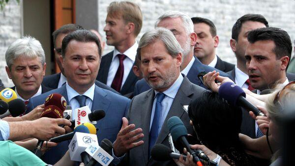 Johanes Han sa makedonskim liderima - Sputnik Srbija