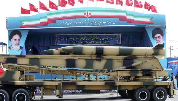 Ирански пројектили на војној паради - Sputnik Србија