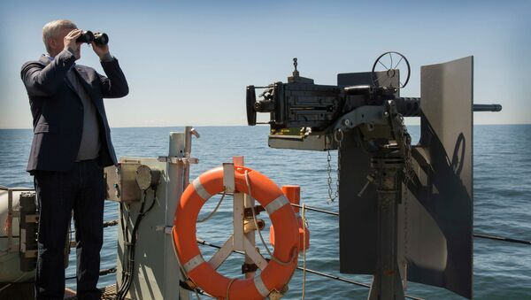 Kanadski premijer Stiven Harper na fregati u Baltičkom moru - Sputnik Srbija