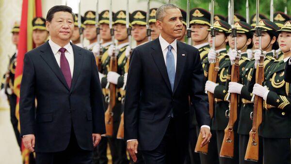 Амерички председник Барак Обама и кинески председник Кси Ђинпинг у Пекингу 12. новембра 2014. - Sputnik Србија