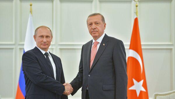 Ruski predsednik Vladimir Putin i turski predsednik Redžep Tajip Erdogan - Sputnik Srbija