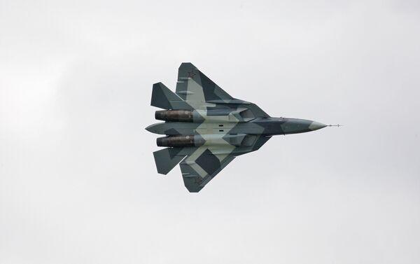 Ruski mlazni borbeni avion Suhoj PAK FA T-50 - Sputnik Srbija