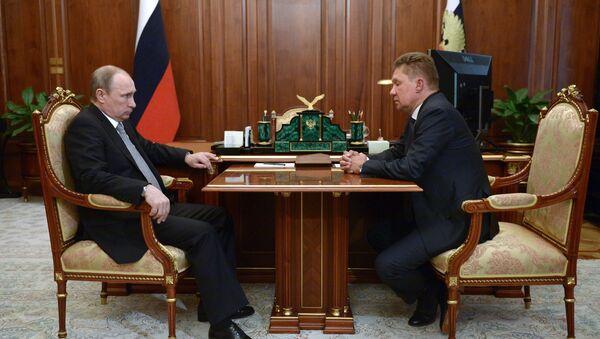 Владимир Путин и Алексеј Милер - Sputnik Србија