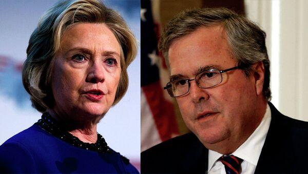 Хилари Клинтон и Џеб Буш - Sputnik Србија