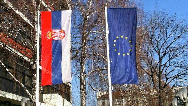 Заставе Србије и ЕУ - Sputnik Србија