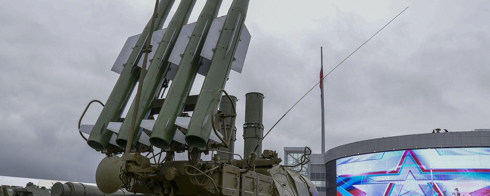 Međunarodni vojno-tehnički Forum Armija-2015- Protivavionski raketni sistem Buk-1M - Sputnik Srbija, 1920, 25.07.2021