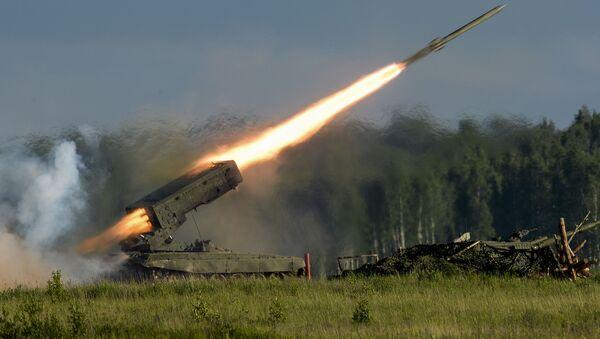 """Lansiranje rakete tokom programa Međunarodnog vojno-tehničkog foruma """"Armija 2015"""" - Sputnik Srbija"""