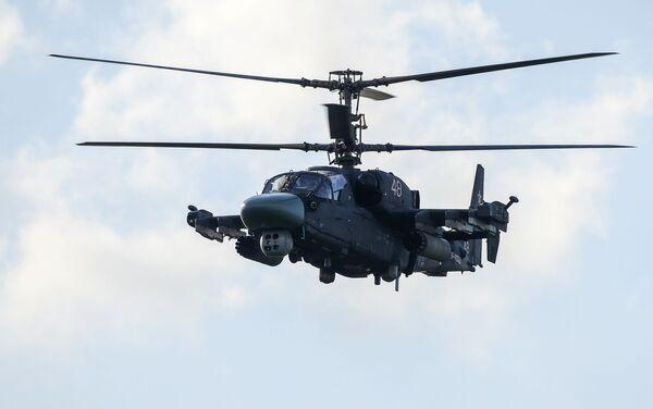 """Helikopter Ka-52 tokom programa Međunarodnog vojno-tehničkog foruma """"Armija 2015"""" - Sputnik Srbija"""