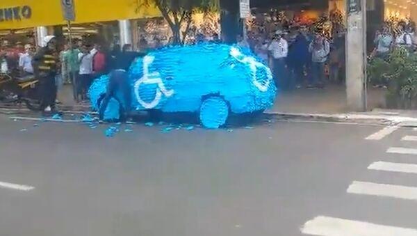 That's what happens when you park in a handicap spot in Brazil - Sputnik Srbija