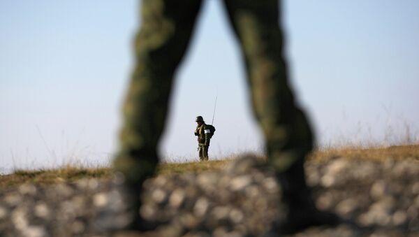 Vojnici u centru za obuku i gradu Očamčira, Krim - Sputnik Srbija