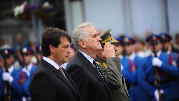 Tomislav Nikolić i Bratislav Gašić polažu vence u Kruševcu povodom obeležavanja Vidovdana - Sputnik Srbija