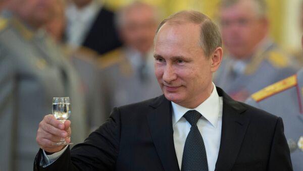 Predsednik Ruske Federacije Vladimir Putin na prijemu u Kremlju - Sputnik Srbija