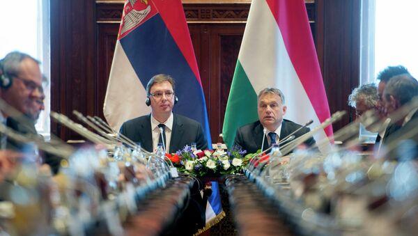 Aleksandar Vučić i Viktor Orban u Budimpešti, 1.07.2015 - Sputnik Srbija