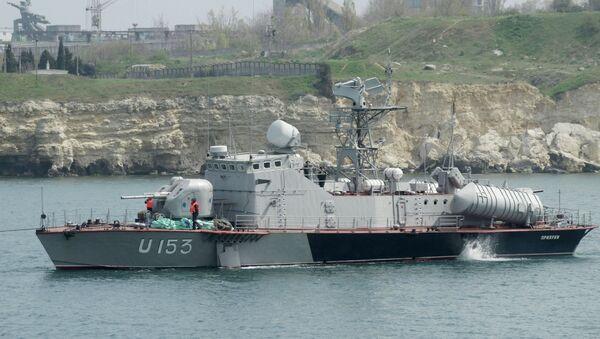 Ракетни брод Прилуки напушта Севастопољ - Sputnik Србија