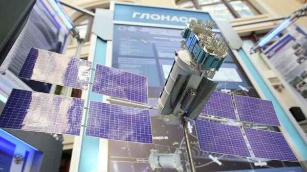 Model satelita GLONASS izložen u okviru izložbe Svemir - Izbori - Telekomunikacije - Sputnik Srbija