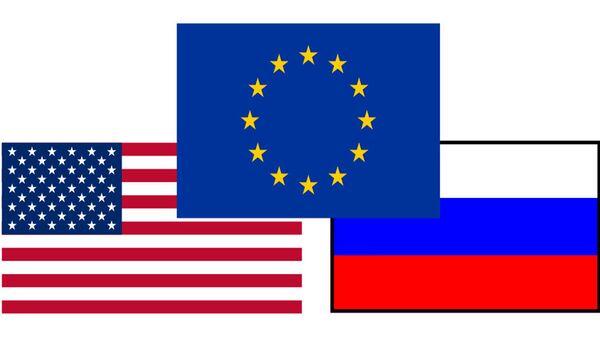 Заставе САД, ЕУ и Русије - Sputnik Србија
