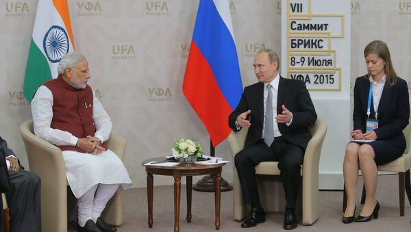 Владимир Путин и Наренда Моди - Sputnik Србија