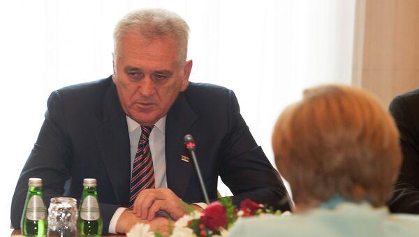 Predsednik Srbije Tomislav Nikolić sa nemačkom kancelarkom Angelom Merkel tokom susreta u Beogradu - Sputnik Srbija