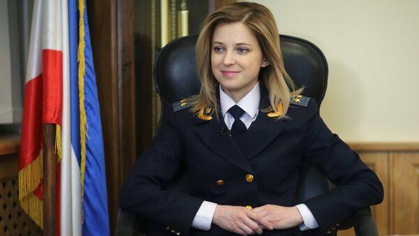Krimska tužiteljka Natalija Poklonskaja u svojoj kancelariji u Simferopolju - Sputnik Srbija