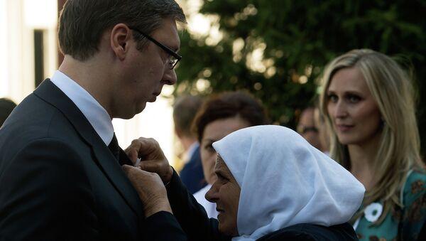 Aleksandar Vučić u Srebrenici - Sputnik Srbija