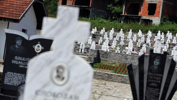 Српско гробље у Братунцу, близу Сребренице - Sputnik Србија