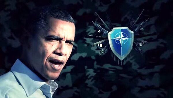 Председник САД Барак Обама и лого НАТО-а - Sputnik Србија